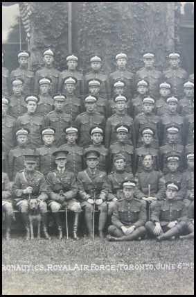 Course 34, School of Aeronautics, Royal Air Force, Toronto June 6th 1918 [Original Historical ...