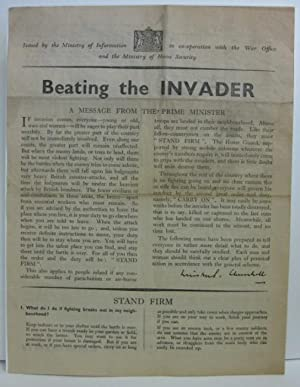 Beating the Invader; A Message from the: Churchill, Winston S.