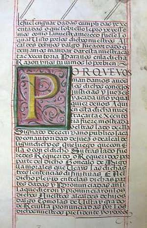 Royal Grant to the Maralez Family]: Illuminated Manuscript], [King Philip II of Spain], [Royal ...