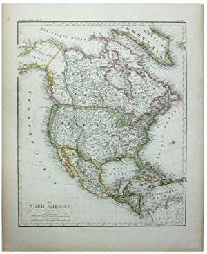 Nord America [Original 1853 Map of North America].