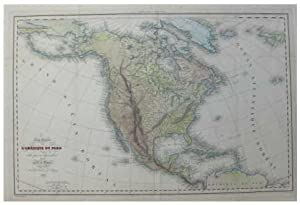 Carte Generale de L'amerique Du Nord et Des Iles Qui En Dependent [Original 1836 Map of North Ame...