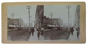 Rosser Avenue, Brandon, Man. [Stereoscopic View].: Ackermann Bro's Publishers