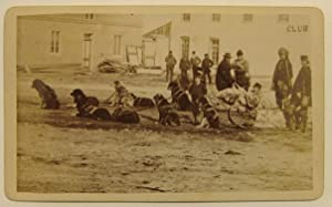 Original Photograph by Duffin and Co. Of a Dogsled and Several Bystanders: Winnipeg Photograph]