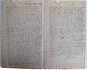 Original Hand Written Statement of Mary Florence Lassandro Taken by Inspector J.D. Nicholson Signed...