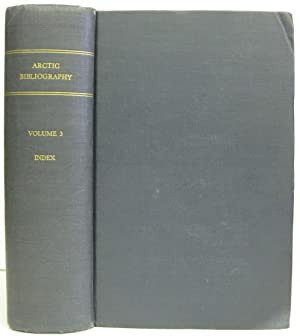 Arctic Bibliography Prepared for and in Cooperation with the Department of Defense Under the ...