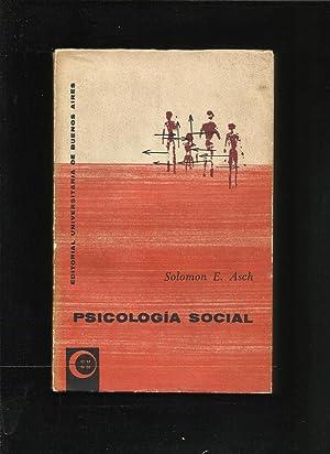 Psicología social.: ASCH, Solomon E.: