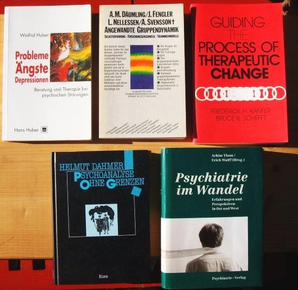 Konvolut mit fünf Bücher: 1. Psychiatrie im: Thorm Achim und