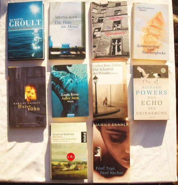 Konvolut mit zehn Bücher (Paket Literatur): 1.: Groult, Benoite ;