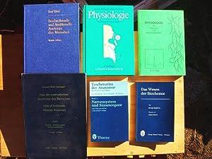 Konvolut mit sechs Bücher: 1. Physiologie. Lehrbuch: Heinz und Rut