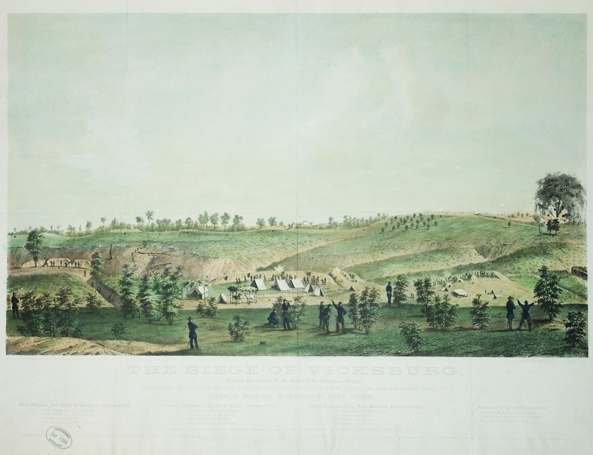 The Siege on Vicksburg.: Middleton Strobridge & Co