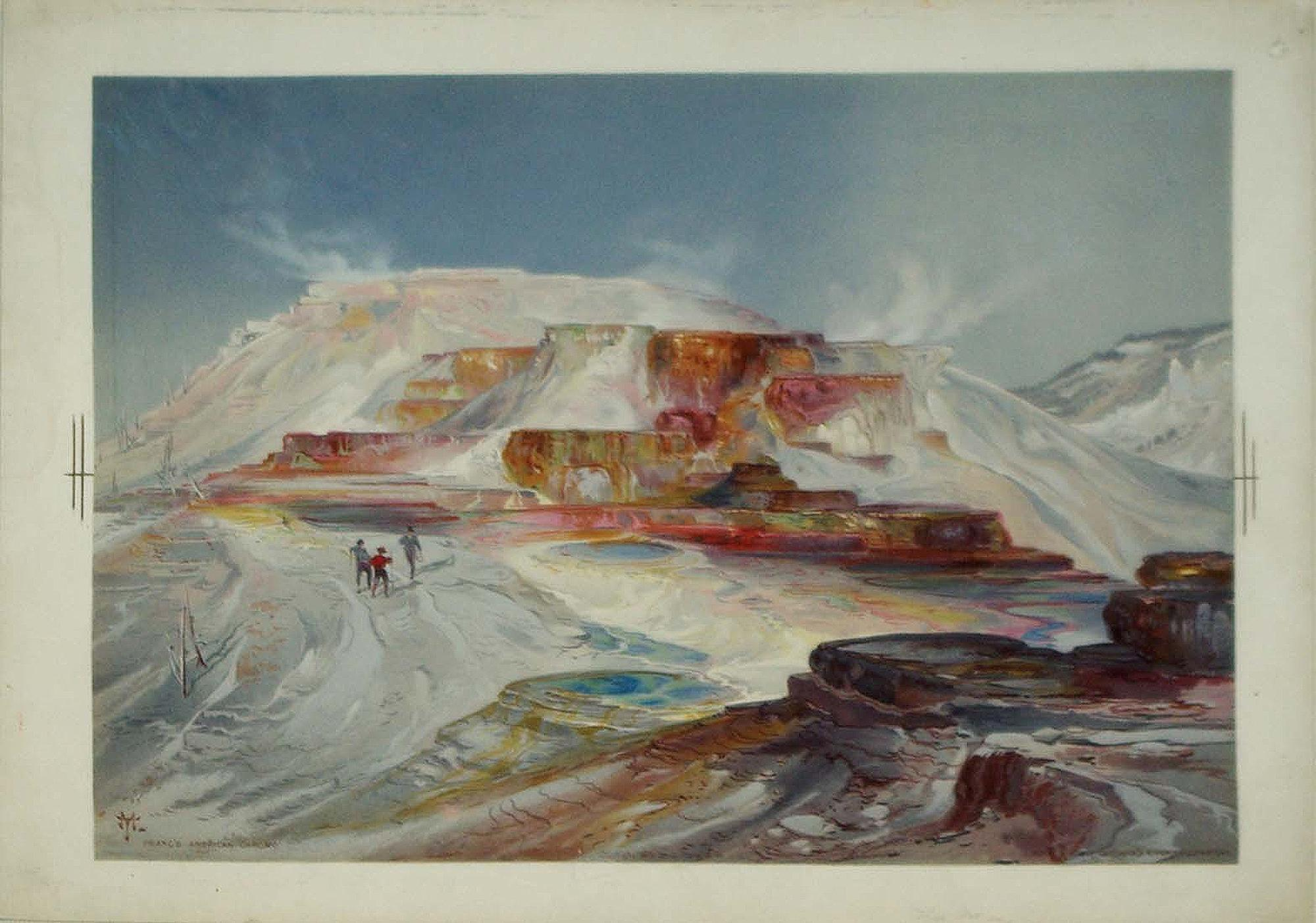 Hot spring of Gardiner¿s River, Yellowstone: Thomas Moran (1837-1926)