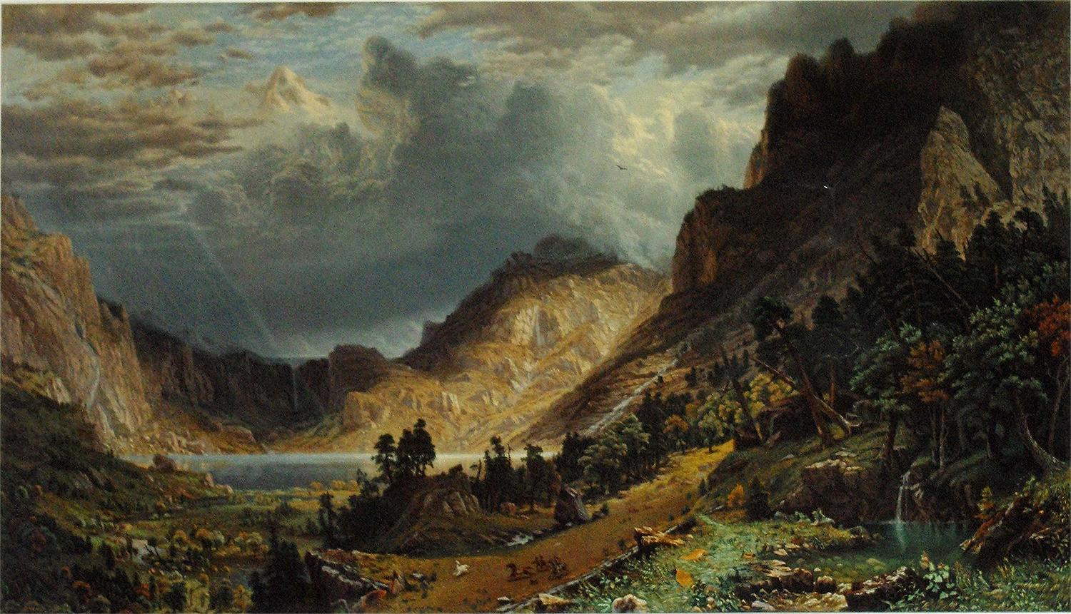Storm in the Rocky Mountains, Mt. Rosalie: Albert Bierstadt (1830-1902)