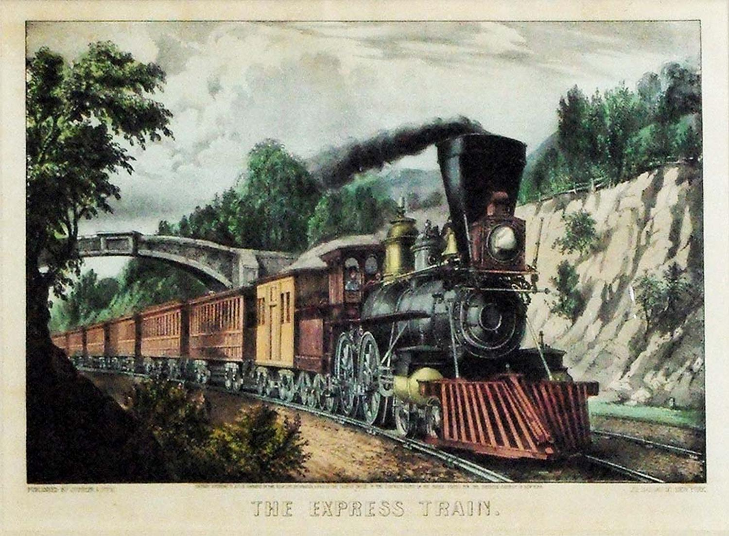 The Express Train: Currier & Ives