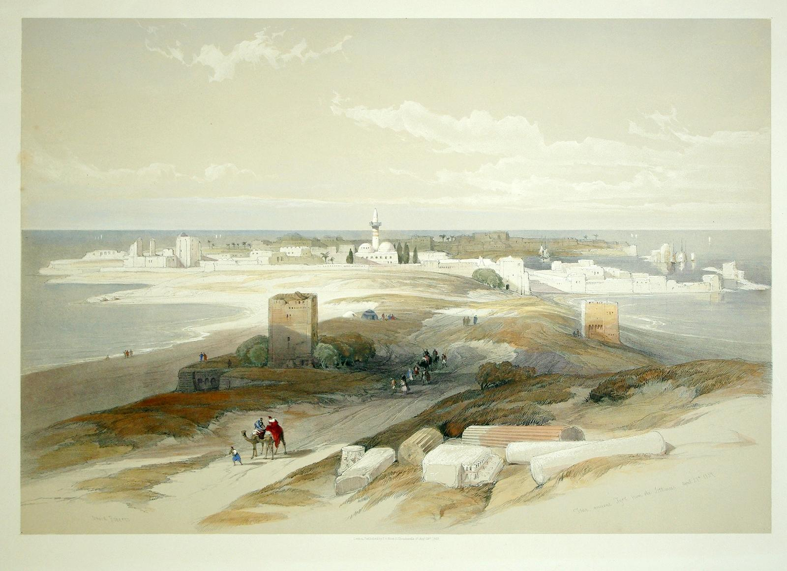 Tyre, from the Isthmus from Views in the Holy Land, Syria, Idumea, Arabia, Egypt and Nubia.: David ...