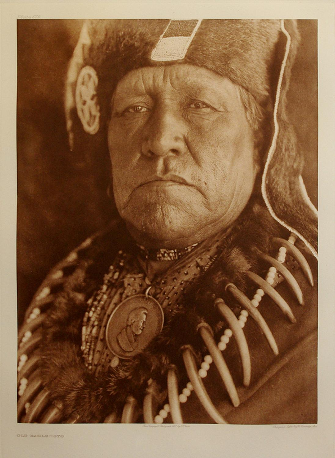 Old Eagle-Oto Pl. 679 from The North American Indian. Portfolio XIX: Edward S. Curtis (1868-1952)