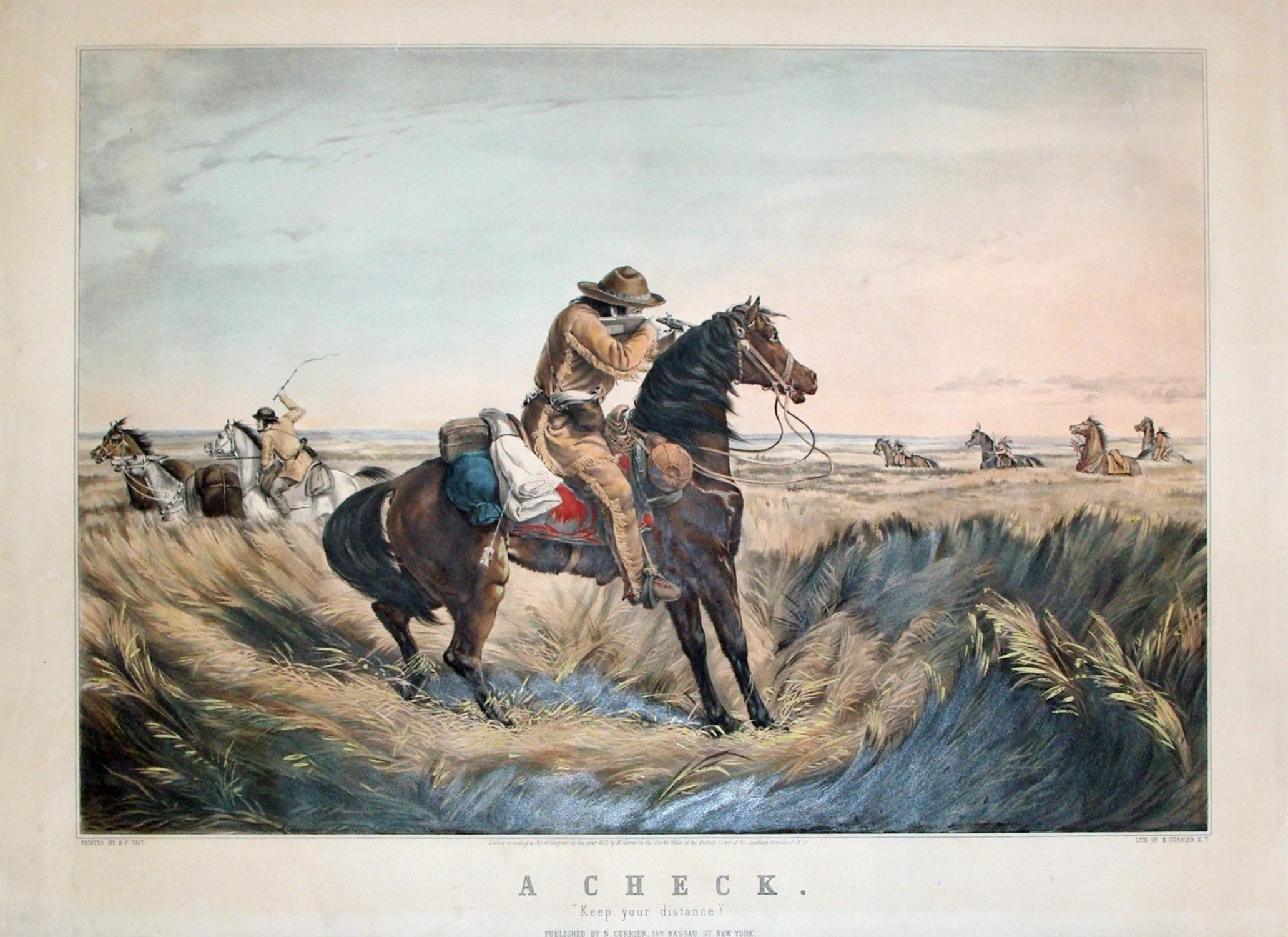 """A Check: """"Keep Your Distance"""": Currier & Ives, after Arthur F. Tait"""