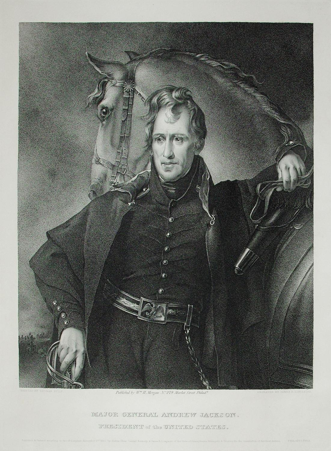 Major General Andrew Jackson. President of the United States.: James Barton Longacre (1794-1869)