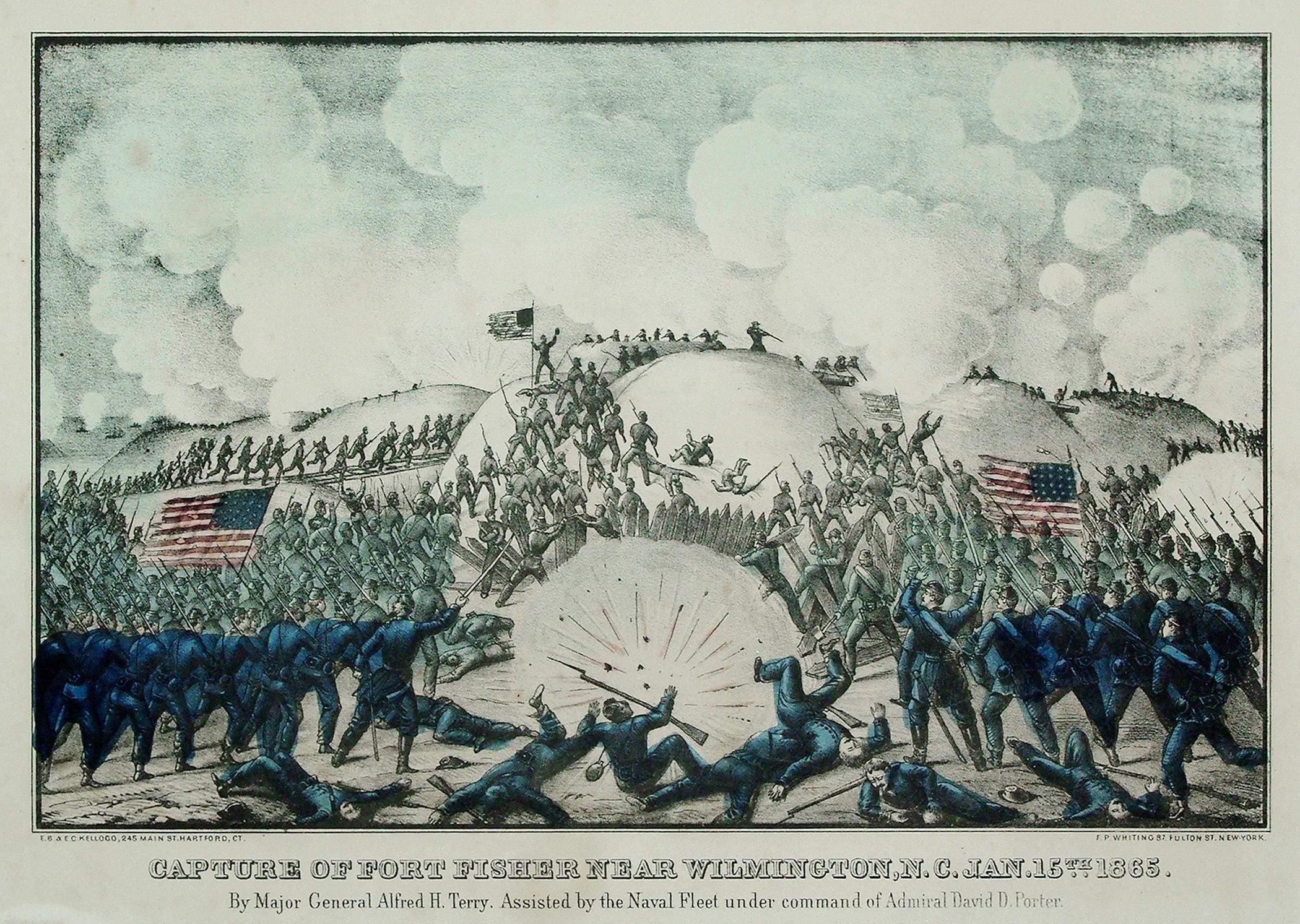Capture of Fort Fisher Near Wilmington, N.C. Jan. 15th 1865: E. B. Kellogg & E. C. Kellogg