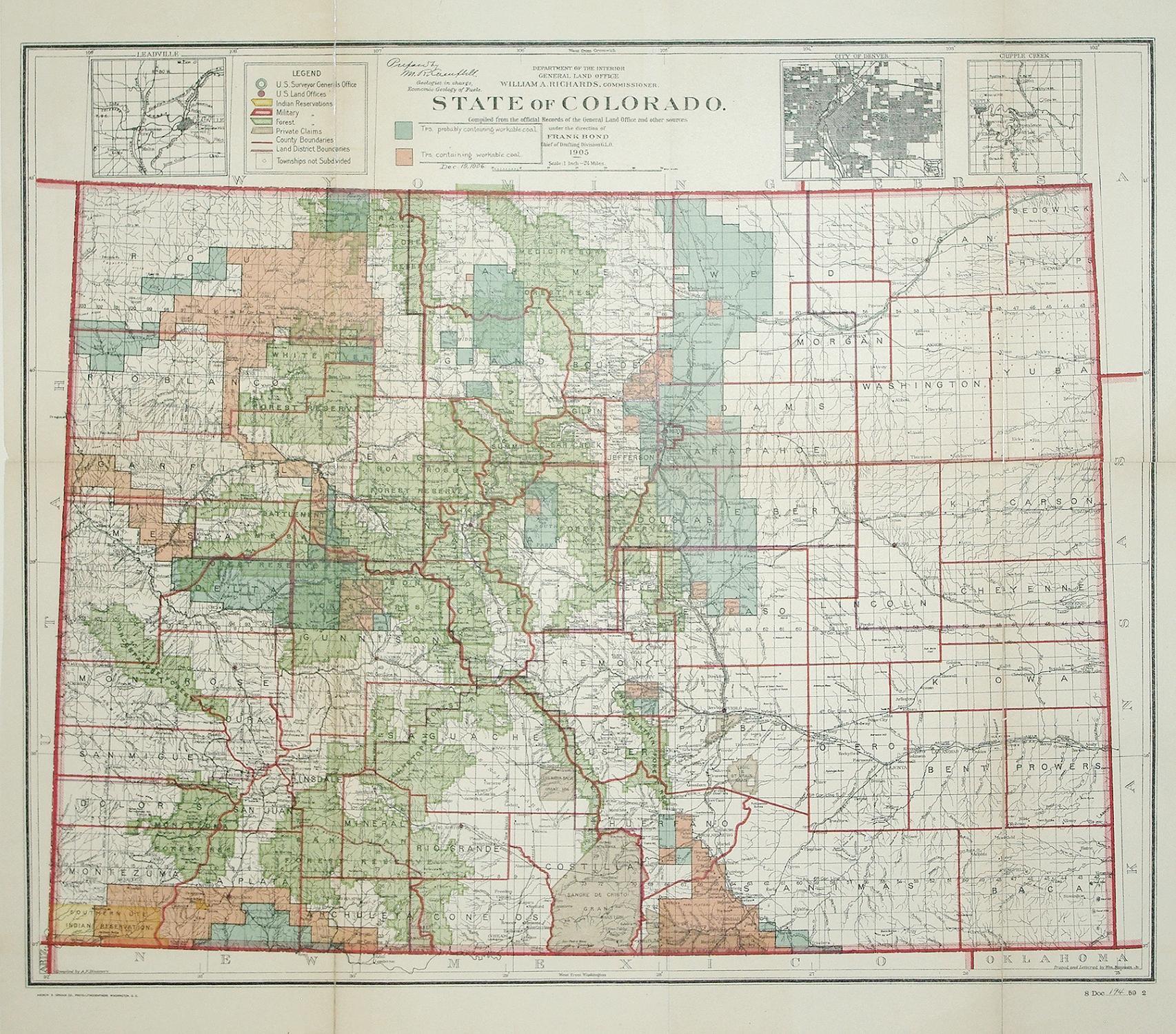 State of Colorado Map: Frank Bond