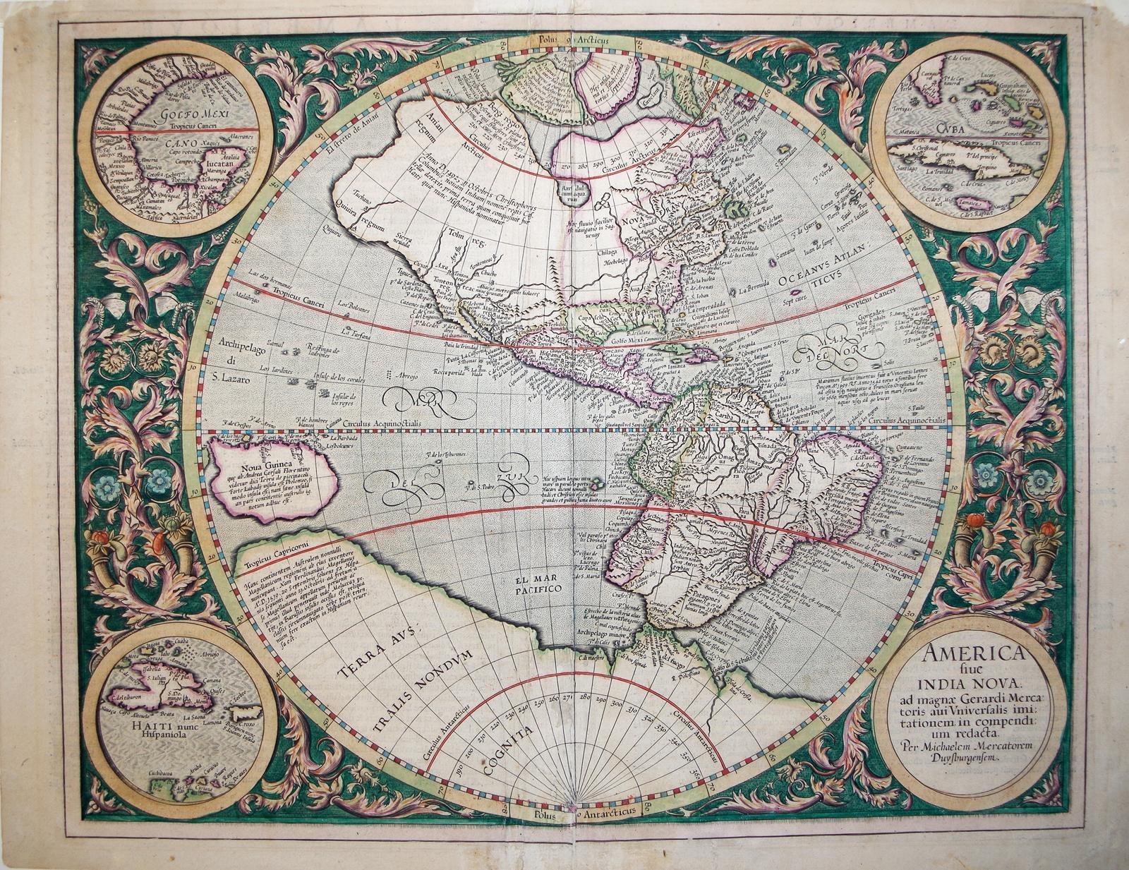 America fiue India Nova (North and South America)/(insets)Golfo Mexicano/Haiti nunc ...