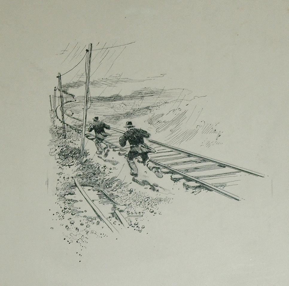 The Andrew¿s Raid: Beginning of the Pursuit. April 12, 1862 original illustration.: Isaac Walton ...