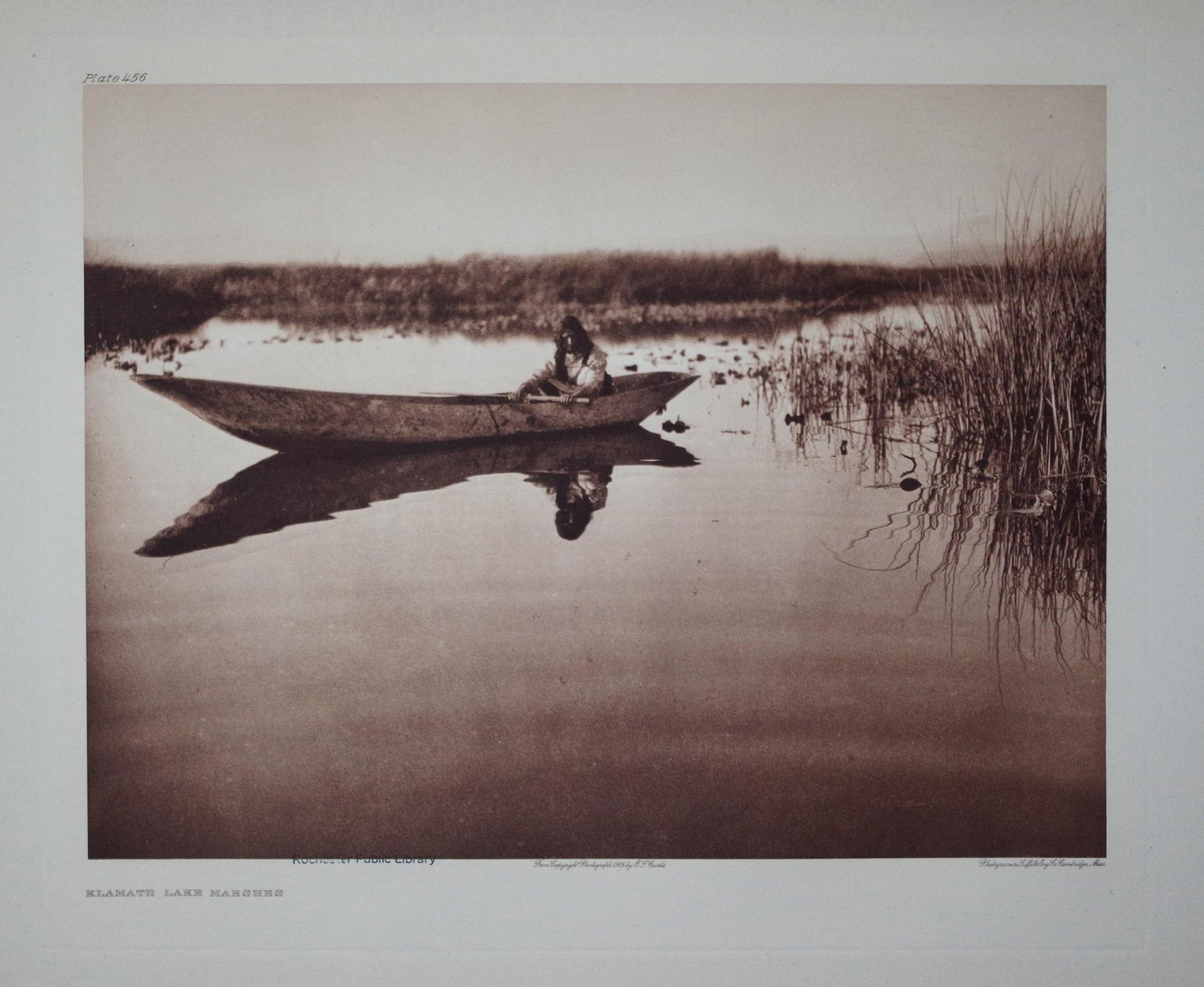 Klamath Lake Marshes, Plate 456 from The North American Indian. Portfolio XIII: Edward S. Curtis (...
