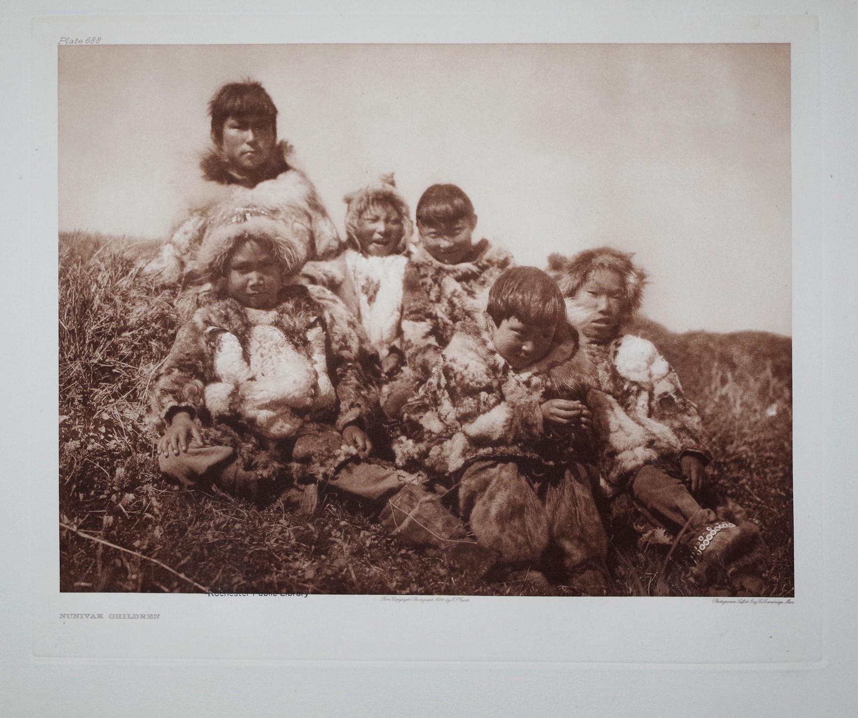 Nunivak Children, Plate 688 from The North American Indian. Portfolio XX: Edward S. Curtis (1868-...