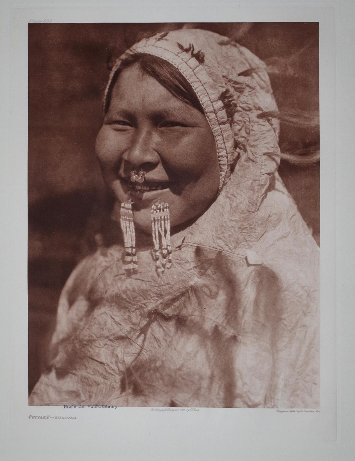 Ugiyaku - Nunivak, Plate 693 from The North American Indian. Portfolio XX: Edward S. Curtis (1868-...