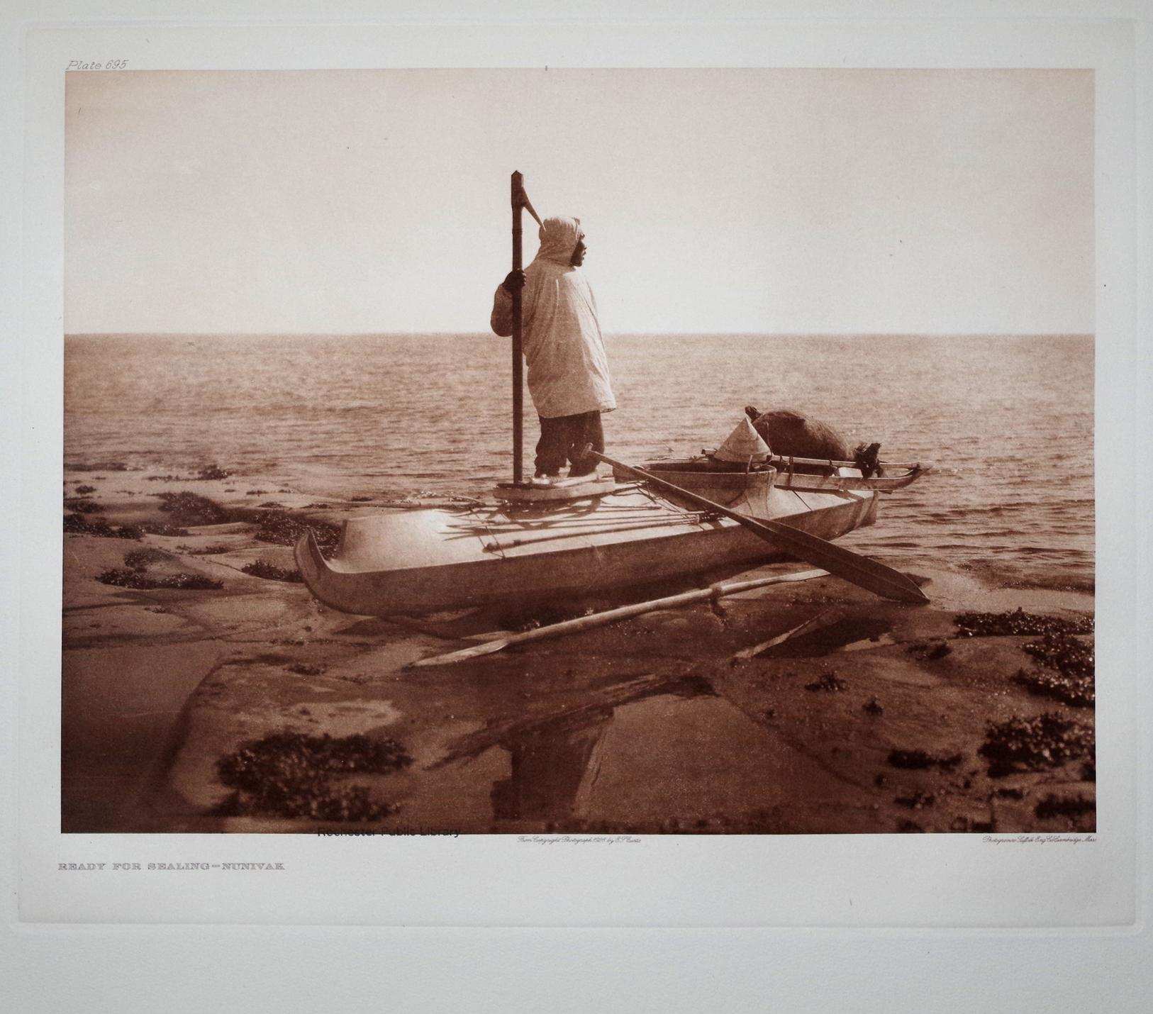 Ready for Sealing - Nunivak, Plate 695 from The North American Indian. Portfolio XX: Edward S. ...