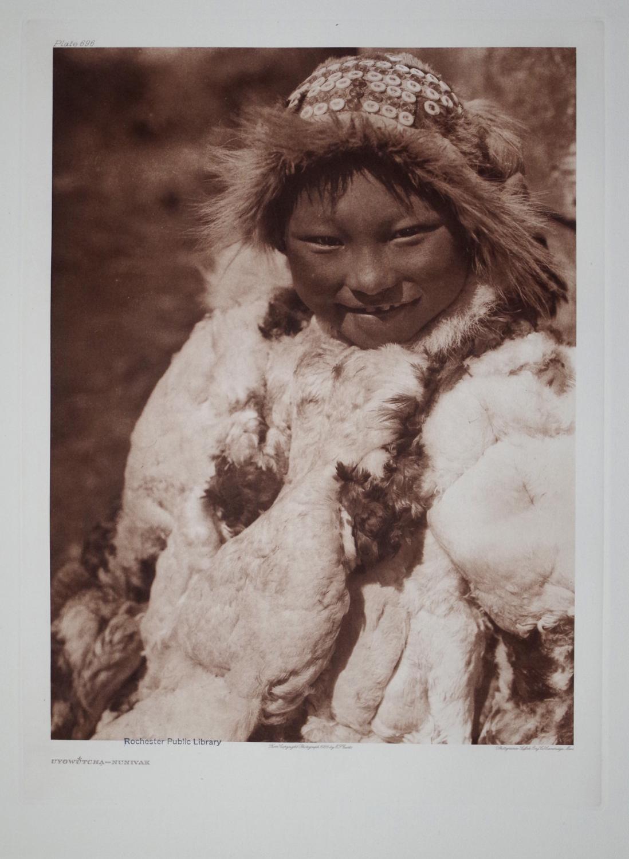 Uyowutcha - Nunivak, Plate 696 from The North American Indian. Portfolio XX: Edward S. Curtis (1868...