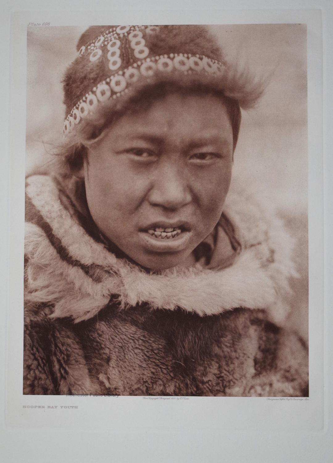 Hooper Bay Youth, Plate 698 from The North American Indian. Portfolio XX: Edward S. Curtis (1868-...
