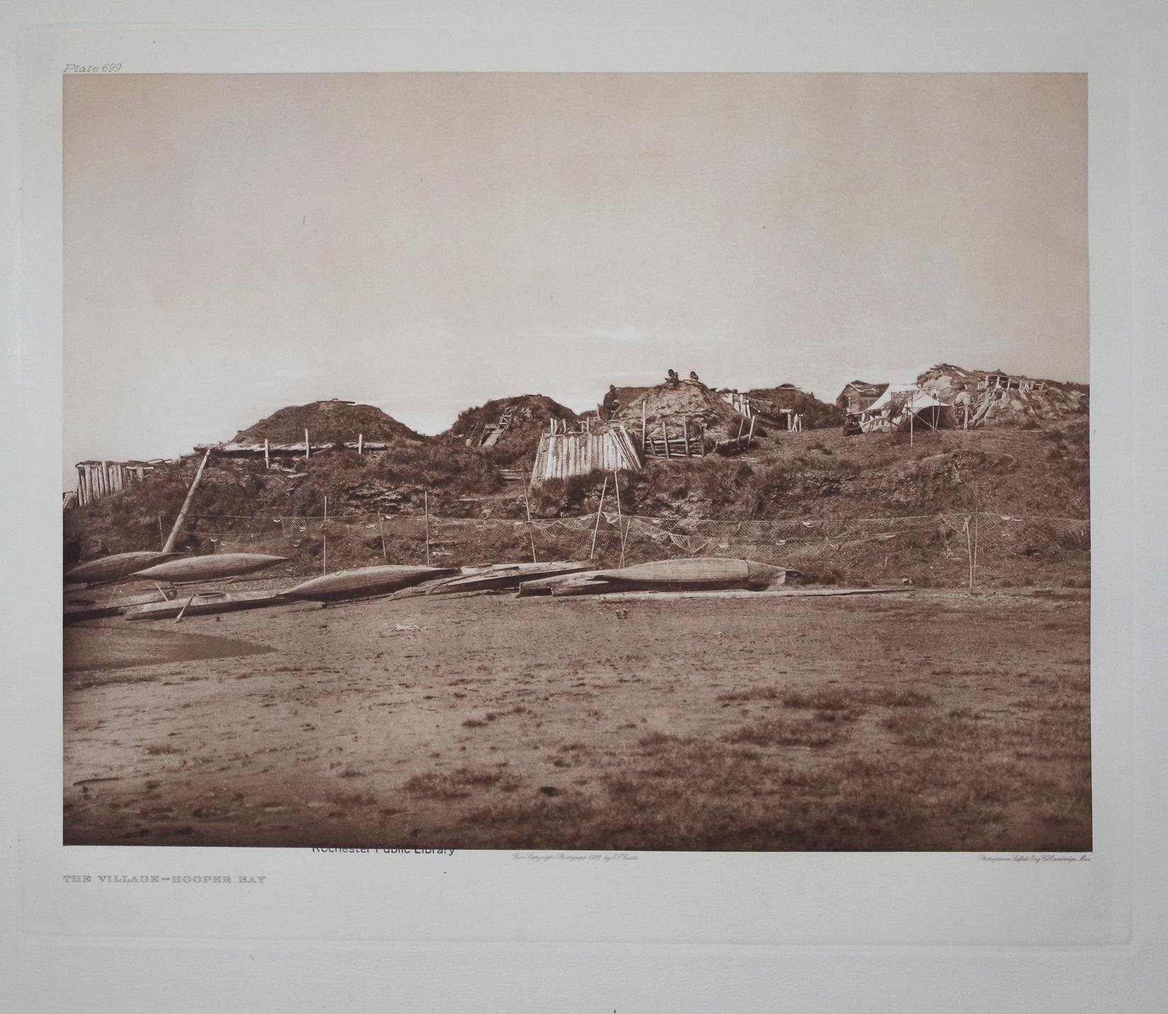 The Village - Hooper Bay, Plate 699 from The North American Indian. Portfolio XX: Edward S. Curtis ...