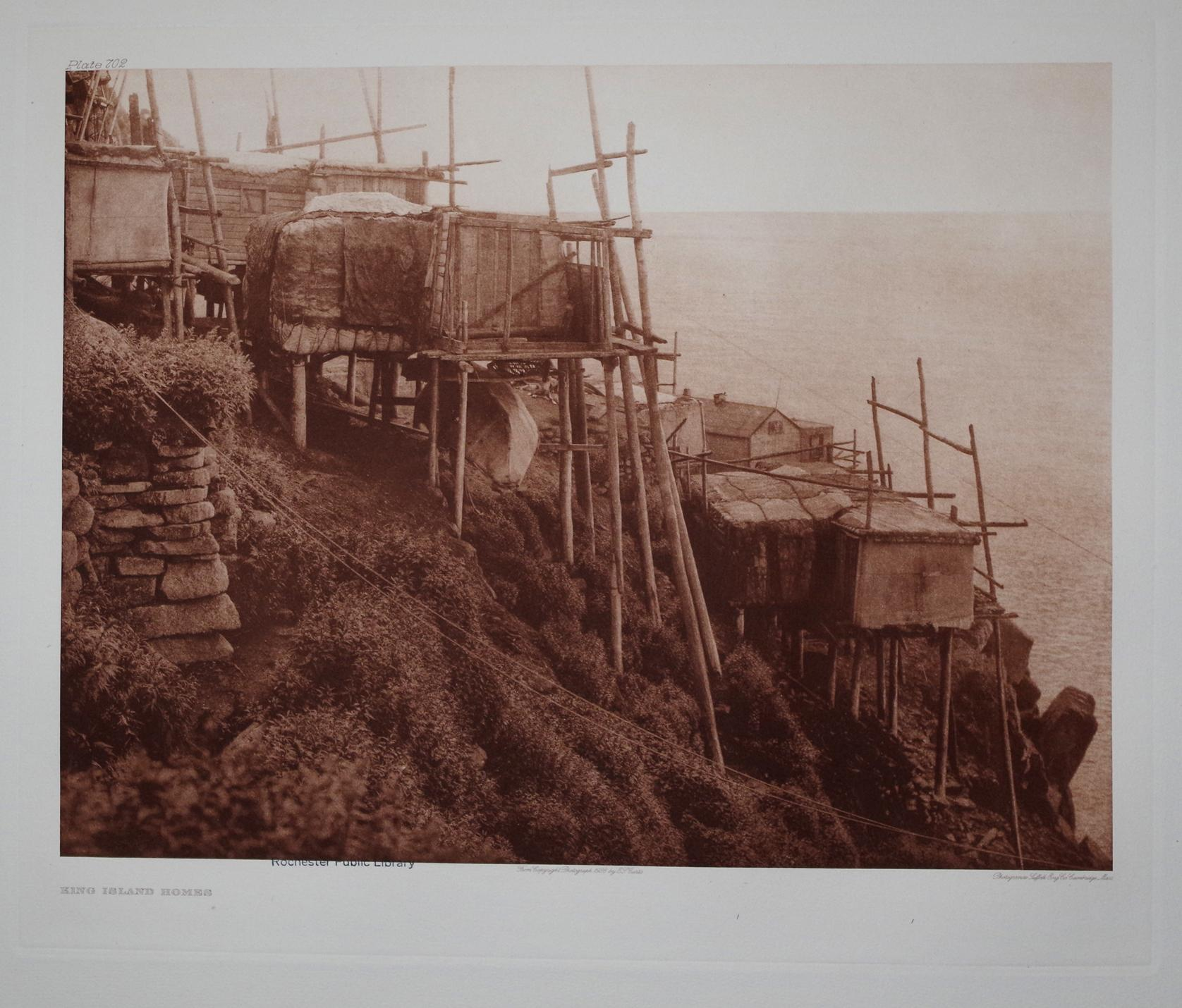 King Island Homes, Plate 702 from The North American Indian. Portfolio XX: Edward S. Curtis (1868-...