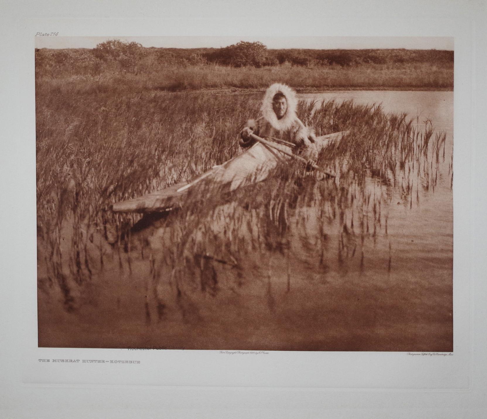 The Muskrat Hunter - Kotzebue, Pl. 714 from The North American Indian. Portfolio XX: Edward S. ...
