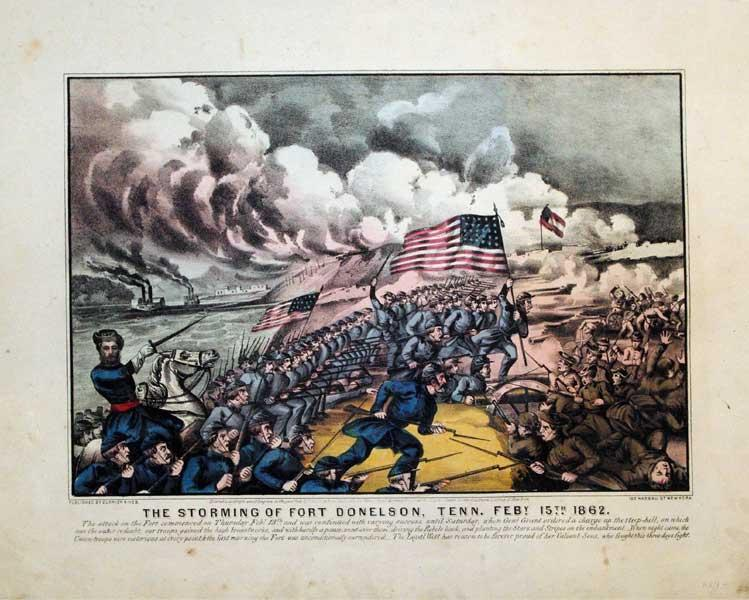 The Storming of Fort Donelson, Tenn. Feby 15th 1862: Currier & Ives