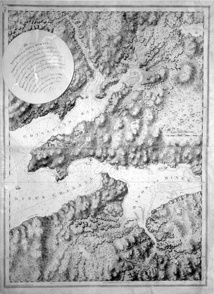 The Isthmus of Nova Scotia. Chignecto, the North East Branch of the Bay of Fundy is Navigable up to...