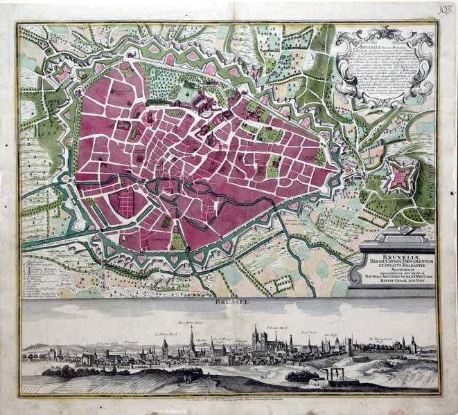Bruxeliae (Brussels): Georg Matthaus Seutter