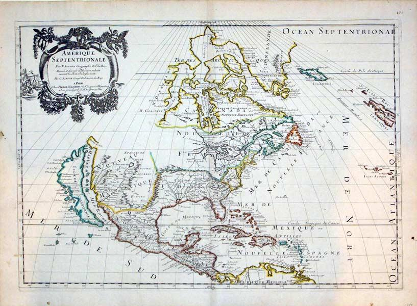 Amerique Septentrionale: Reveue et changee en plusieurs endroits suivant les Memoires les plus ...