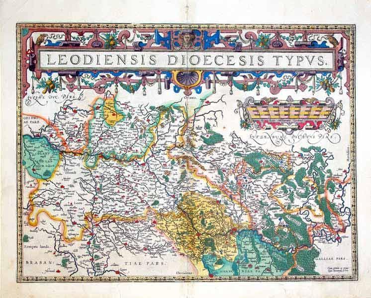 Leodiensis Dioecesis Typus (Lowlands): Abraham Ortelius