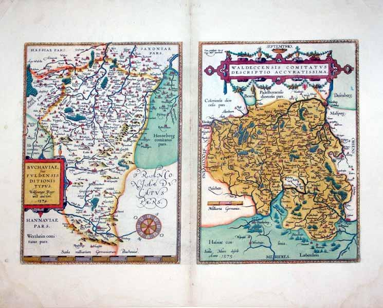 Buchaviae, sive Fuldensis Ditionis Typus. Wolfgango Regr: will autore.1574/Waldeccensis ...