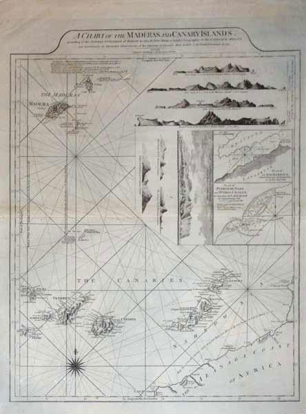 A Chart of the Maderas and Canary Islands: Robert Sayer