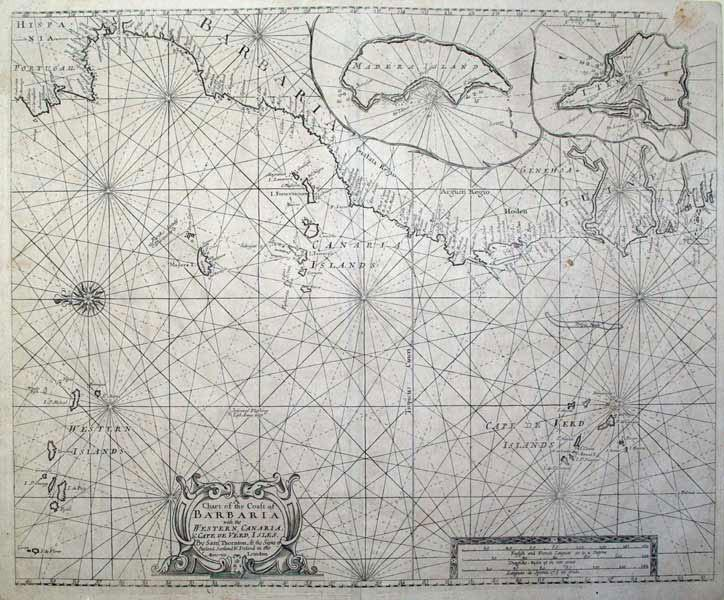 A Chart of the Coast of Barbaria with the Western Canaria & Cape Verde Isles (Barbary Coast&#...