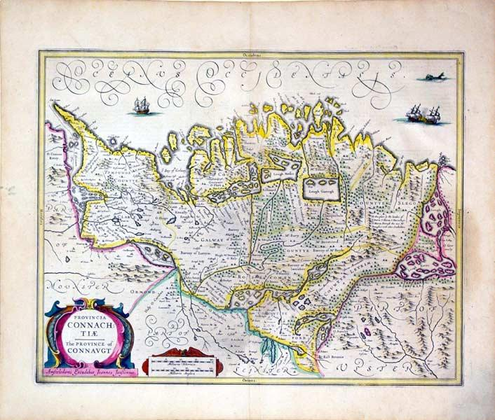 Provincia Connachtiae/The Province of Connaugt (Connaugh County): Mercator/Jansson