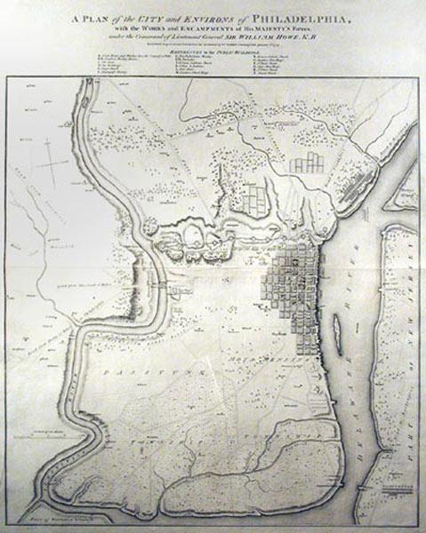 A Plan of the City and Environs of Philadelphia, with the works and encampments of His Majesty&#x27...