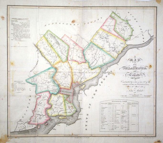 A Map of Philadelphia County constructed by virtue of an act of the legislature of Pennyslvania: ...