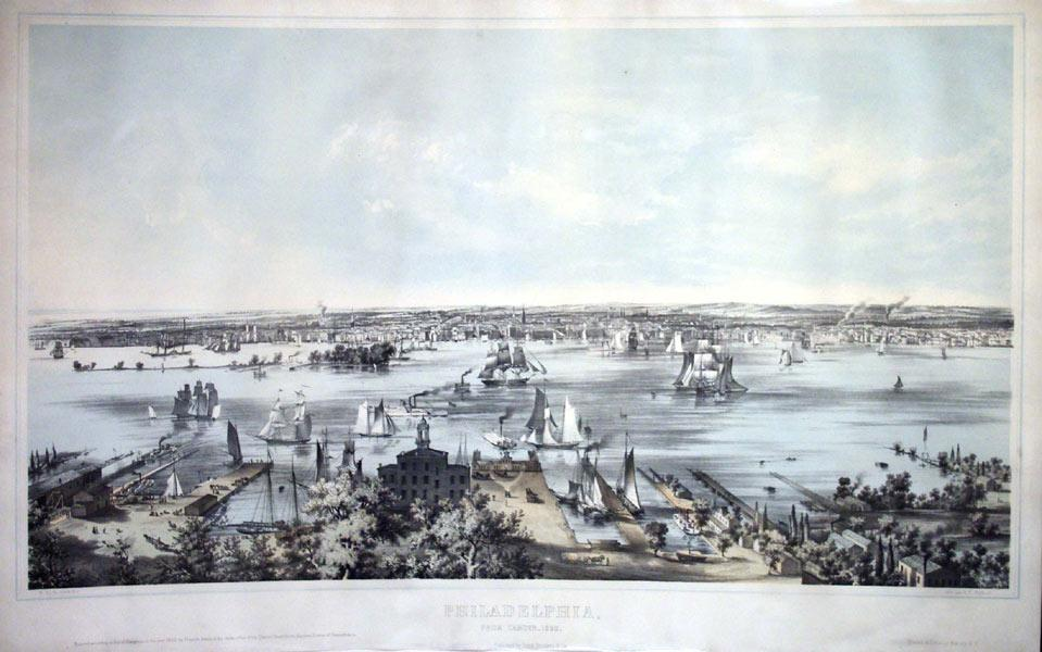 Philadelphia from Camden-1850: J. W. Hill and Smith