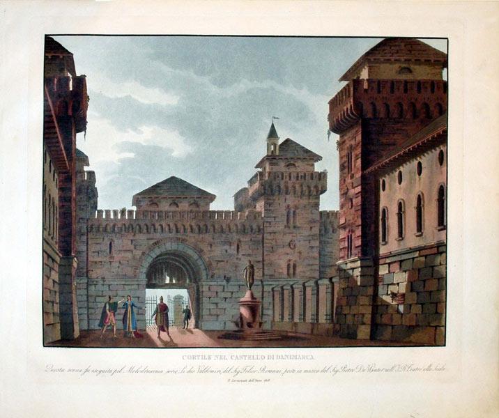 Cortile Nel Castello Di Danimarca: Alessandro Sanquirico