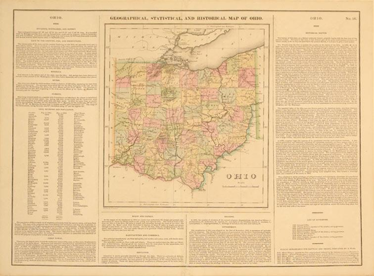 Geographical, Statistical, and Historical Map of Ohio.: Carey & Lea