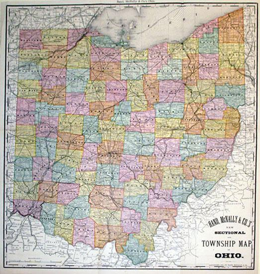 Rand, McNally & Co.'s New Sectional and Township Map of Ohio: Rand, McNally & Co.