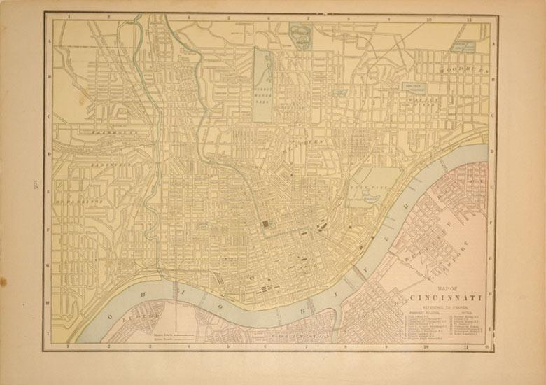 Map of Cincinnati: Geo. F. Cram